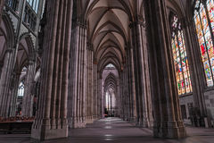 Cologne gothic cathedral interior, Germany, Europe Stock Photos