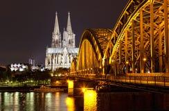 Cologne gotisk domkyrka royaltyfria bilder