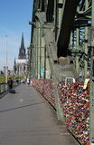 Cologne Hohenzollern Bridge Stock Photography