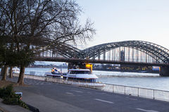 The Cologne. Hohenzollern Bridge. Stock Photo