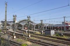 Cologne järnvägsstation royaltyfri foto