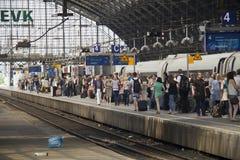 Cologne järnvägsstation, Tyskland Fotografering för Bildbyråer