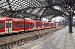 Cologne järnvägsstation, Tyskland Royaltyfri Fotografi
