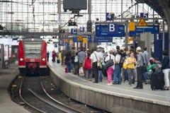 Cologne järnvägsstation, Tyskland Royaltyfri Foto