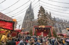 Cologne julmarknad Fotografering för Bildbyråer