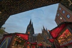 Cologne julmarknad Arkivfoto