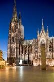 cologne katedralna noc obraz stock