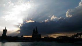 Cologne koln Tyskland Arkivbild