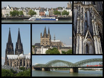 Cologne landmarks collage Stock Photo