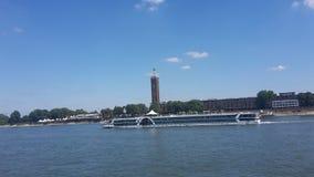 Cologne le Rhin Photo libre de droits