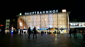 Cologne main station (Koln Hauptbahnhof), Cologne, Germany, stock footage