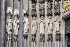 Cologne,  the medieval portal, main entrance of the Dome Royalty Free Stock Photography