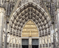 Cologne,  the medieval portal, main entrance of the Dome Royalty Free Stock Image