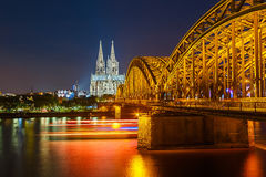 Cologne at night Stock Images