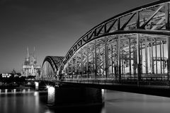 Cologne by Night Stock Photography