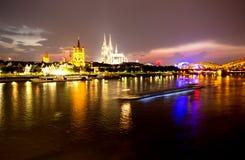 Cologne at night Stock Image