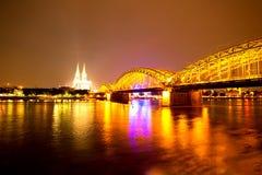 Cologne at night Royalty Free Stock Photo
