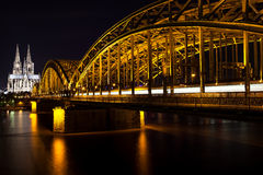 Cologne at Night royalty free stock images