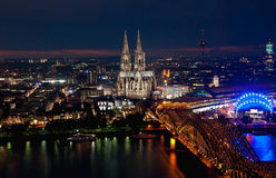 Cologne by night Royalty Free Stock Images