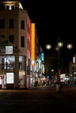 Cologne at night. Shopping street in the center of Cologne at night royalty free stock images