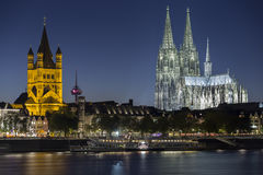 Cologne Night View Royalty Free Stock Images