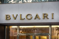 Cologne, North Rhine-Westphalia/germany - 17 10 18: bvlgari sign on an building in cologne germany. Cologne, North Rhine-Westphalia/germany - 17 10 18: an royalty free stock image