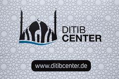 DITIB center sign in cologne germany royalty free stock image