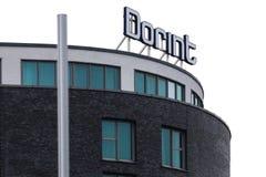 Cologne, North Rhine-Westphalia/germany - 26 11 18: dorint hotels sign on the dorint headquarter in cologne germany. Cologne, North Rhine-Westphalia/germany - 26 stock image
