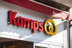 Cologne, North Rhine-Westphalia/germany - 17 10 18: kamps bakery sign in cologne germany. Cologne, North Rhine-Westphalia/germany - 17 10 18: a kamps bakery sign royalty free stock photos
