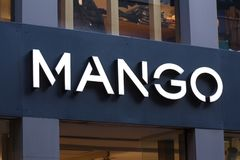 Cologne, North Rhine-Westphalia/germany - 17 10 18: mango sign in cologne germany. Cologne, North Rhine-Westphalia/germany - 17 10 18: an mango sign in cologne stock images