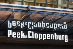 Cologne, North Rhine-Westphalia/germany - 17 10 18: peek & cloppenburg sign in cologne germany. Cologne, North Rhine-Westphalia/germany - 17 10 18: an peek & stock photo