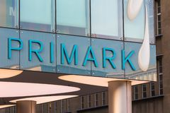 Cologne, North Rhine-Westphalia/germany - 17 10 18: primark sign in cologne germany. Cologne, North Rhine-Westphalia/germany - 17 10 18: an primark sign in stock photo