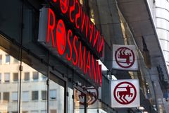 Cologne, North Rhine-Westphalia/germany - 17 10 18: rossmann sign in cologne germany. Cologne, North Rhine-Westphalia/germany - 17 10 18: an rossmann sign in royalty free stock photo