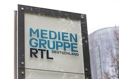 Cologne, North Rhine-Westphalia/germany - 24 10 18: rtl tv station sign in cologne germany. Cologne, North Rhine-Westphalia/germany - 24 10 18: an rtl tv station stock photos