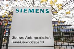 Cologne, North Rhine-Westphalia/germany - 02 12 18: siemens building sign in cologne germany royalty free stock image