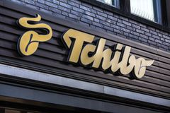 Cologne, North Rhine-Westphalia/germany - 06 11 18: tchibo sign in cologne germany stock image