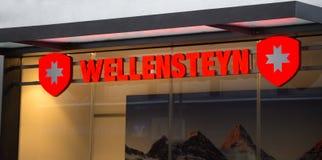 Cologne, North Rhine-Westphalia/germany - 17 10 18: wellensteyn sign on an building in cologne germany. Cologne, North Rhine-Westphalia/germany - 17 10 18: an stock photo
