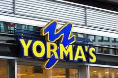 Yormas sign in cologne germany. Cologne, North Rhine-Westphalia/germany - 11 12 18: yormas sign in cologne germany stock photos
