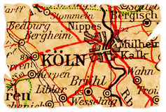 Cologne old map Royalty Free Stock Photo
