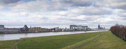 Cologne panorama Fotografering för Bildbyråer