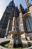 Cologne. Petrus Fountain. Petrus fountain, erected 1870, at the south side of Cologne Cathedral, Germany Stock Photography