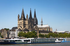 cologne Rhine obraz royalty free