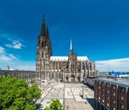 Cologne Skyline with Cathedral Dom Royalty Free Stock Images