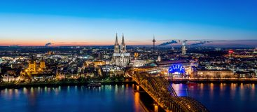Cologne Skyline with Cathedral Dom stock image