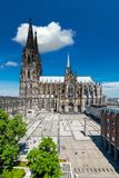 Cologne Skyline with Cathedral Dom Stock Photography