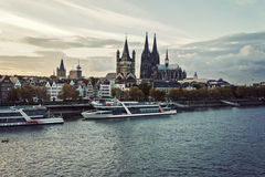 Cologne skyline Cologne Cathedral Stock Photography