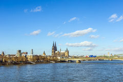 Cologne skyline with dome Royalty Free Stock Images