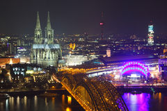 Cologne skyline Stock Image