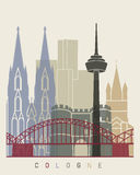 Cologne skyline poster Stock Images