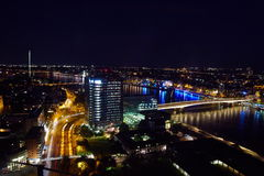 Cologne skyline. View of Cologne at night Stock Images